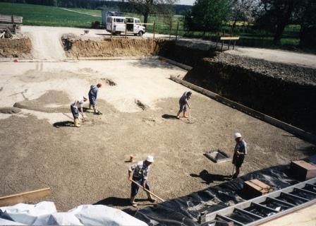 Bau Schützenheim 2002, Aushebung Grundstück