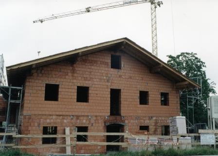 Bau Schützenheim 2002, Rohbau