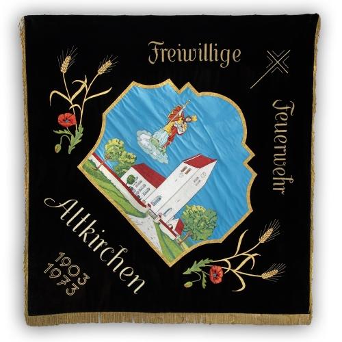 Fahne der Freiwilligen Feuerwehr Altkirchen - Vorderseite